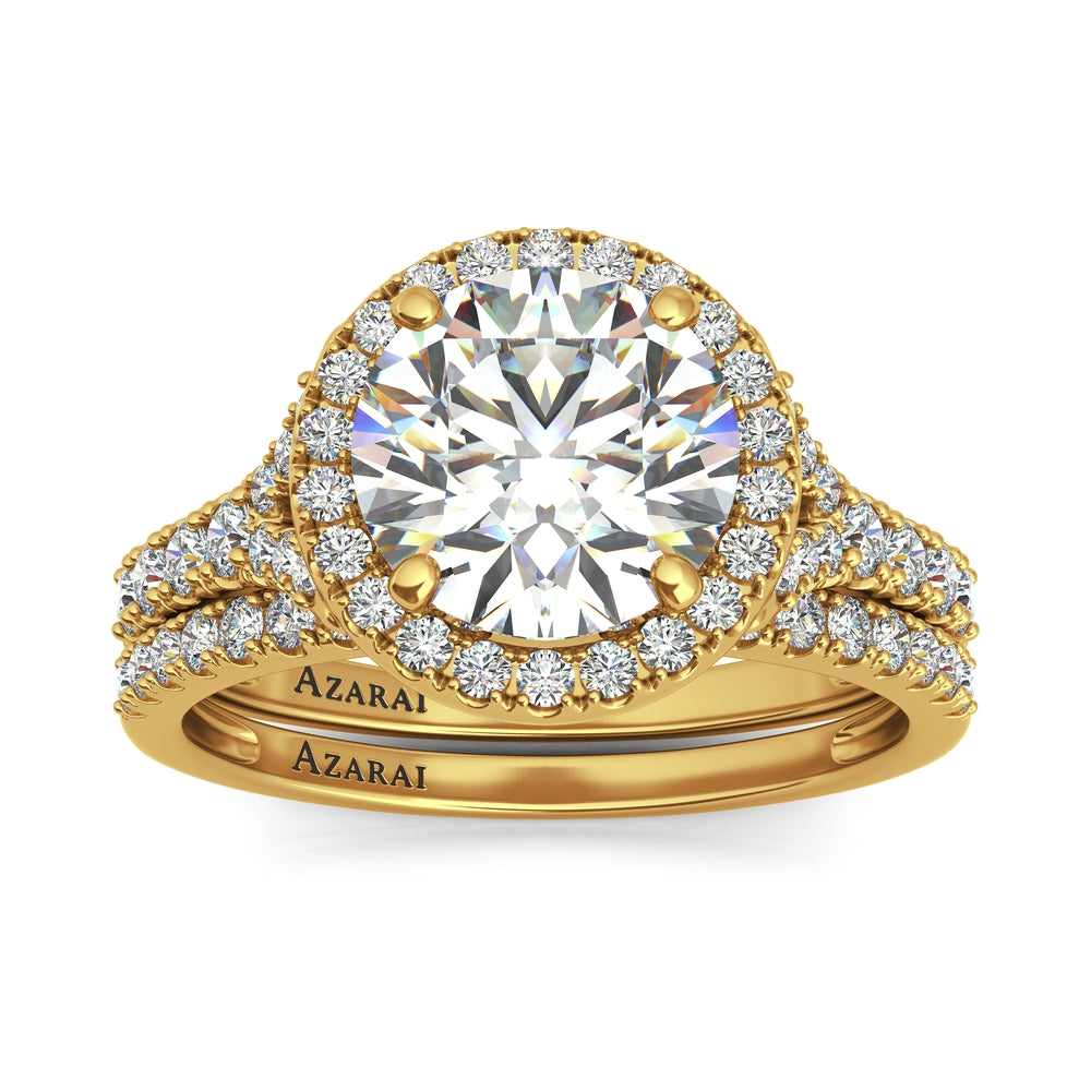 Carrie 14kt gold bridal set - Azarai Wedding Rings |  Abuja | Lagos | Nigeria