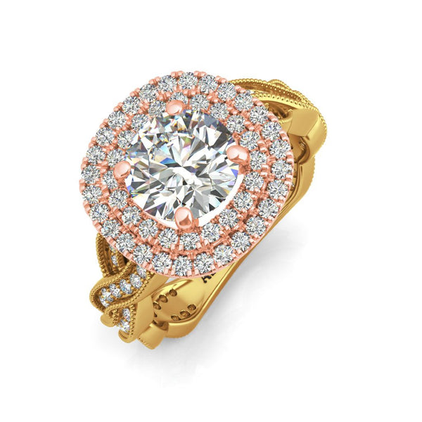 Cellini 9kt gold engagement ring - Azarai Jewelry |  Abuja | Lagos | Nigeria