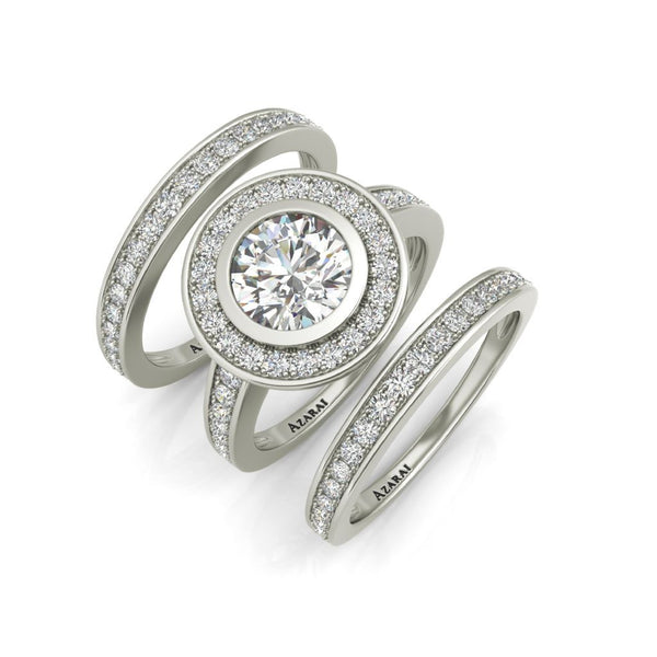 Chamise sterling silver bridal set