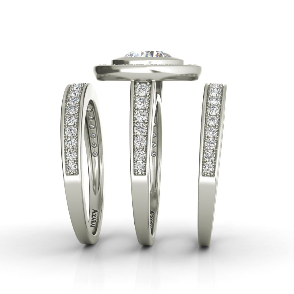 Chamise sterling silver bridal set - Azarai Wedding Rings |  Abuja | Lagos | Nigeria