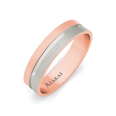 Chandler 18kt gold wedding band - Azarai Jewelry |  Abuja | Lagos | Nigeria
