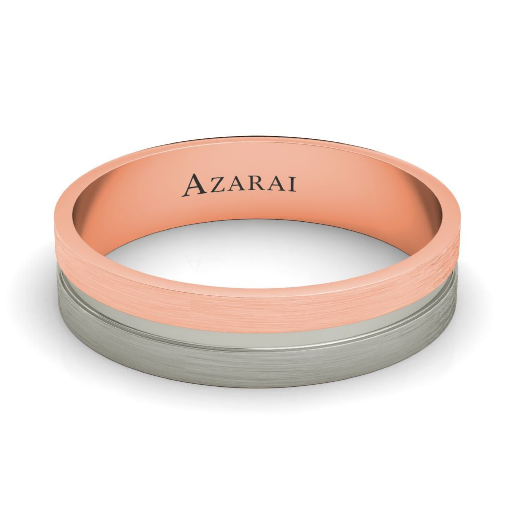 Chandler 18kt gold wedding band - Azarai |  Abuja | Lagos | Nigeria