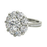 Charlotte sterling silver engagement ring