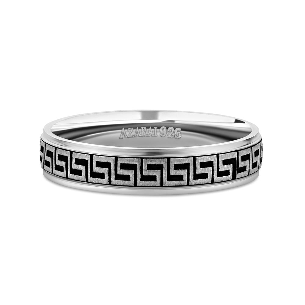 Meandros sterling silver wedding band - Azarai Wedding Rings |  Abuja | Lagos | Nigeria