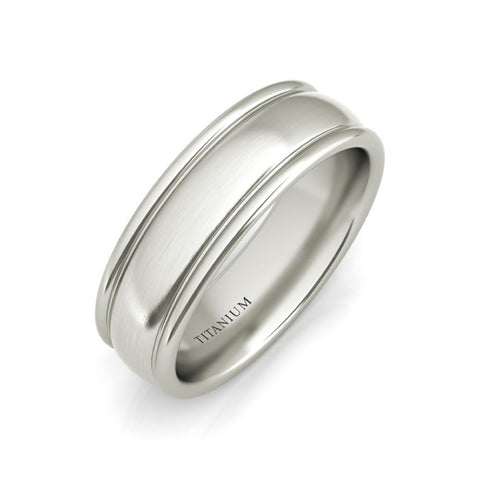 Degas titanium wedding band - EJ Cole