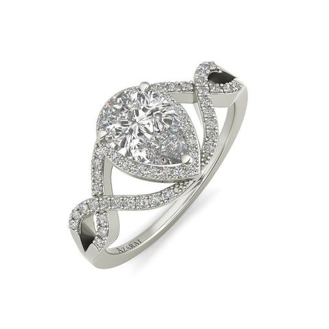 Fiona sterling silver engagement ring - Azarai Jewelry |  Abuja | Lagos | Nigeria