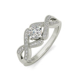 Cielis sterling silver engagement ring