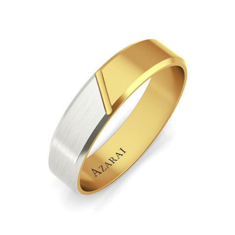 Eclipse 18kt gold wedding band