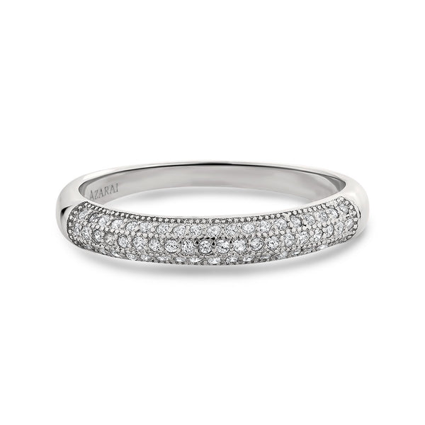 Faye sterling silver wedding band - Azarai |  Abuja | Lagos | Nigeria