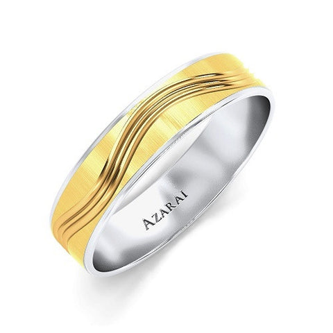 Cresta 9kt gold wedding band