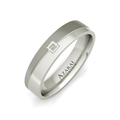 Eli titanium wedding band - Azarai Jewelry |  Abuja | Lagos | Nigeria