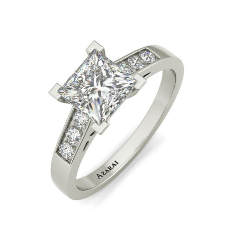Erisa sterling silver engagement ring