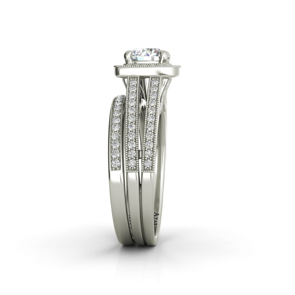 Eva sterling silver bridal set - Azarai Wedding Rings |  Abuja | Lagos | Nigeria
