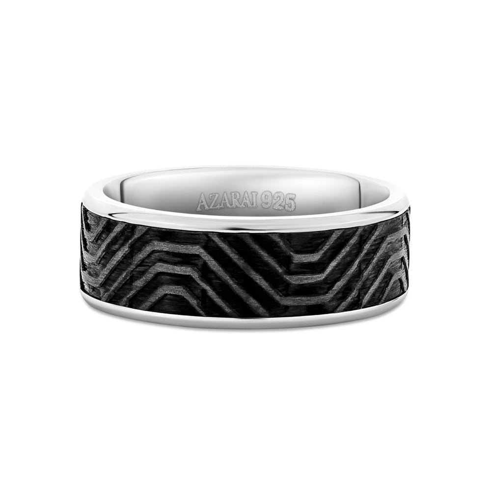Karbn carbon fibre wedding band - Azarai Wedding Rings |  Abuja | Lagos | Nigeria