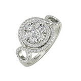 Olivia sterling silver engagement ring - Azarai Jewelry |  Abuja | Lagos | Nigeria