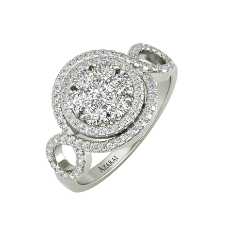 Olivia sterling silver engagement ring