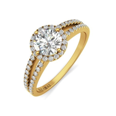 Bella 9kt gold engagement ring - Azarai Jewelry |  Abuja | Lagos | Nigeria