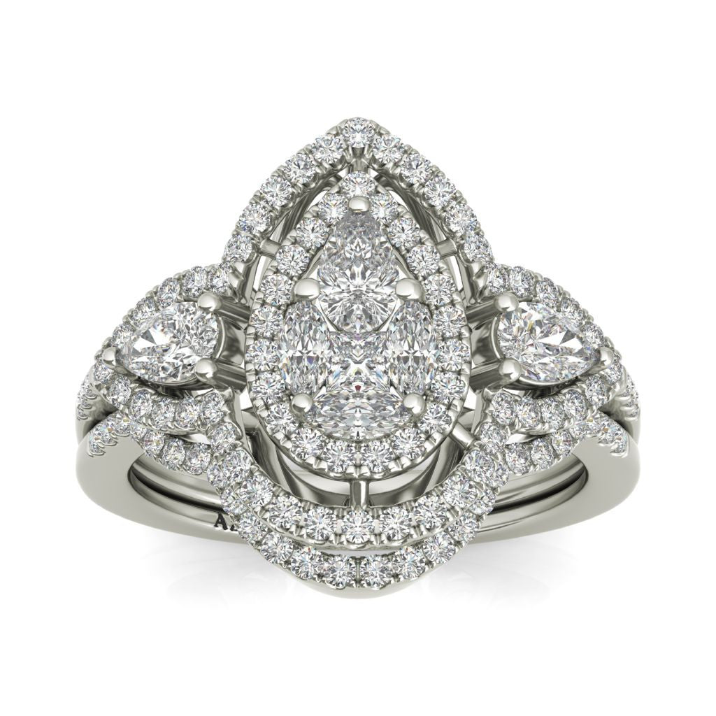 Genevieve sterling silver bridal set ON CLEARANCE - Azarai Wedding Rings |  Abuja | Lagos | Nigeria