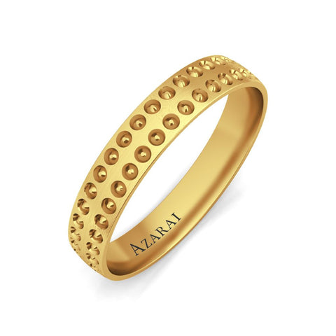 Harper 9kt gold wedding band - Azarai Jewelry |  Abuja | Lagos | Nigeria