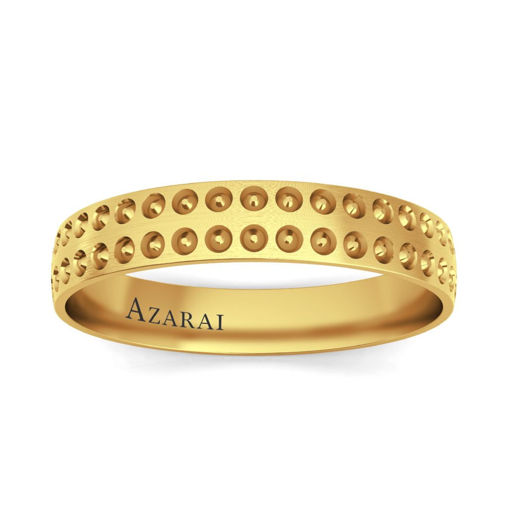 Harper 9kt gold wedding band - Azarai |  Abuja | Lagos | Nigeria