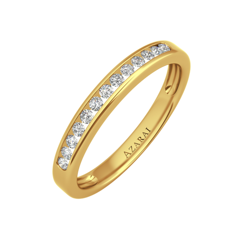 Addison 9kt gold wedding band - Azarai Jewelry |  Abuja | Lagos | Nigeria