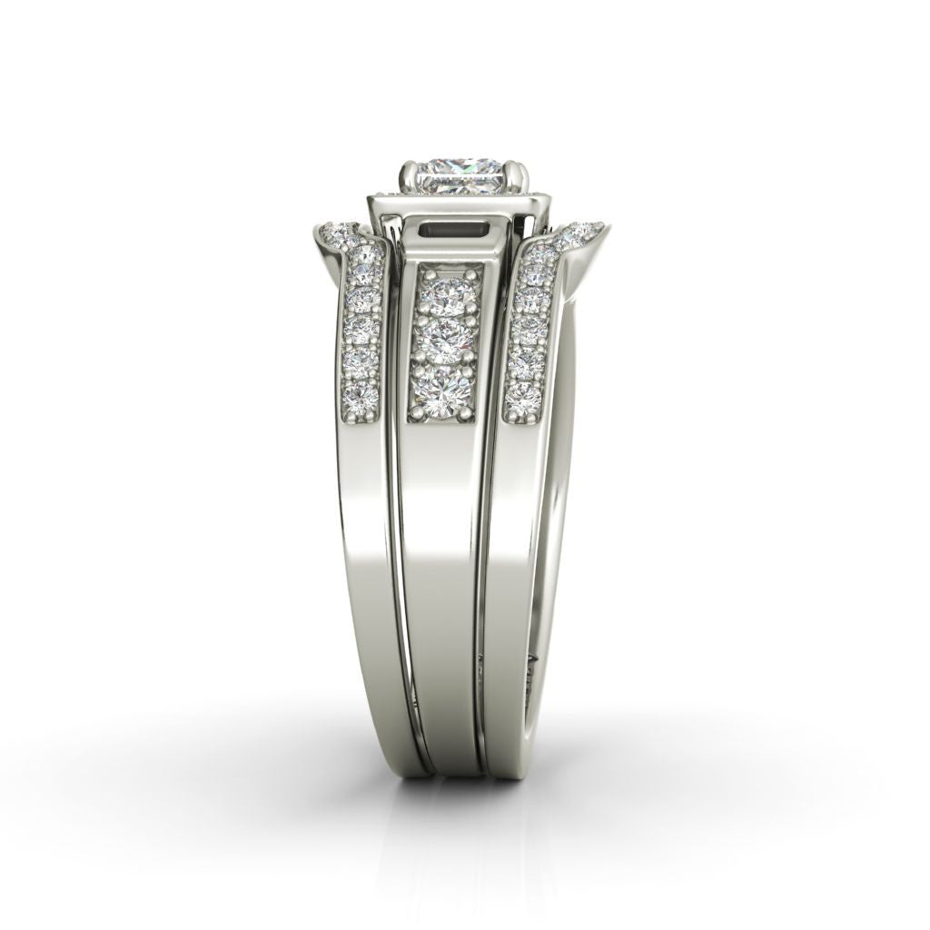 Henriette sterling silver bridal set - Azarai Wedding Rings |  Abuja | Lagos | Nigeria