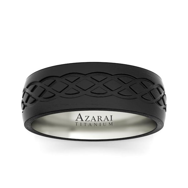 Huntley carbon fibre wedding band - Azarai |  Abuja | Lagos | Nigeria