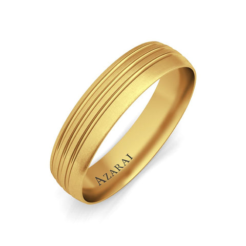 Karsten 9kt gold wedding band - Azarai Jewelry |  Abuja | Lagos | Nigeria