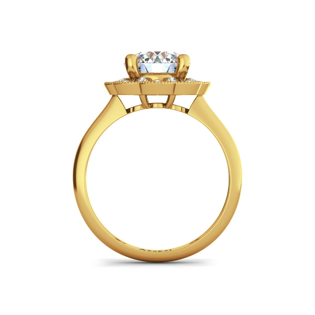 Lily 9kt gold engagement ring - Azarai Wedding Rings |  Abuja | Lagos | Nigeria