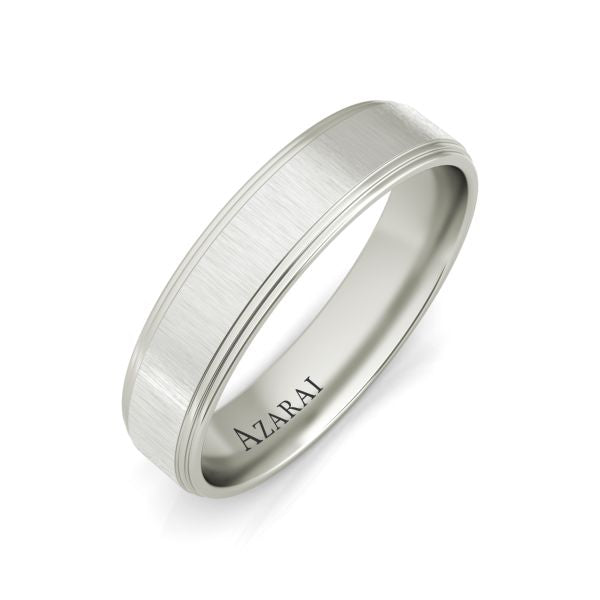 Linwood sterling silver wedding band - Azarai Jewelry |  Abuja | Lagos | Nigeria