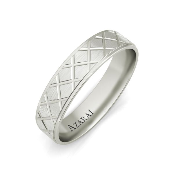 Mitchell sterling silver wedding band - Azarai |  Abuja | Lagos | Nigeria