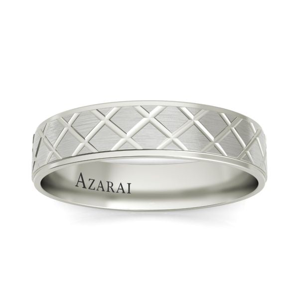Mitchell sterling silver wedding band - Azarai Wedding Rings |  Abuja | Lagos | Nigeria