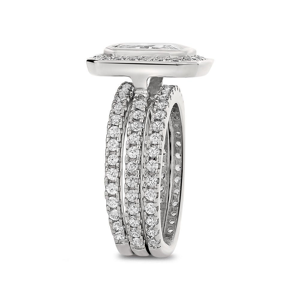 Morgane sterling silver bridal set - Azarai Wedding Rings |  Abuja | Lagos | Nigeria