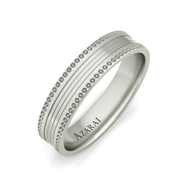 Nelson sterling silver wedding band - Azarai Jewelry |  Abuja | Lagos | Nigeria