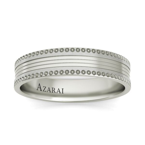 Nelson sterling silver wedding band - Azarai Wedding Rings |  Abuja | Lagos | Nigeria