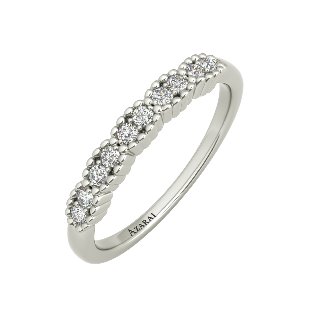 Nina sterling silver wedding band - Azarai |  Abuja | Lagos | Nigeria