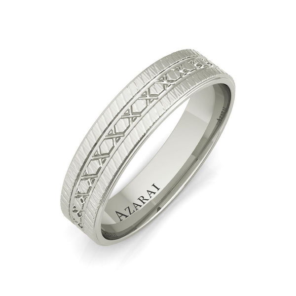 Parker sterling silver wedding band