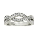 Phoebe sterling silver wedding band