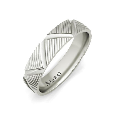 Preston sterling silver wedding band - Azarai Jewelry |  Abuja | Lagos | Nigeria