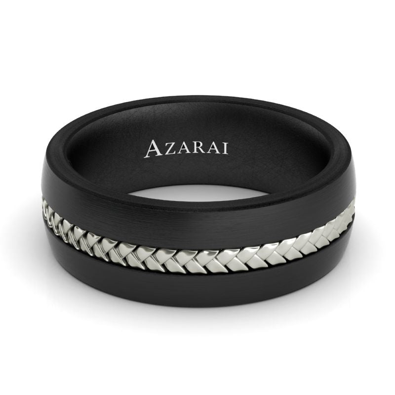 Raven carbon fibre wedding band - Azarai Wedding Rings |  Abuja | Lagos | Nigeria