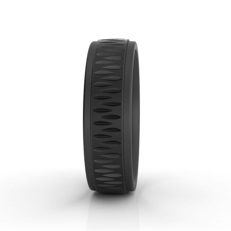 Sable black titanium wedding band - Azarai |  Abuja | Lagos | Nigeria
