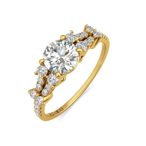 Sweetheart 14kt gold engagement ring - Azarai Jewelry |  Abuja | Lagos | Nigeria