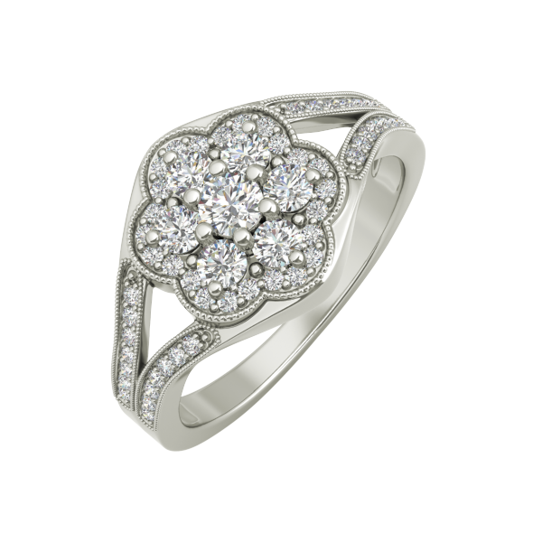 Rosa sterling silver engagement ring - EJ Cole - Azarai - 1