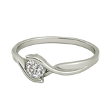 Teresa sterling silver engagement ring - EJ Cole - Azarai - 5