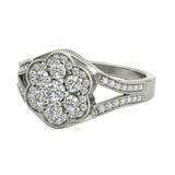 Rosa sterling silver engagement ring - EJ Cole - Azarai - 5