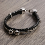 Zipr leather men's bracelet - Azarai |  Abuja | Lagos | Nigeria