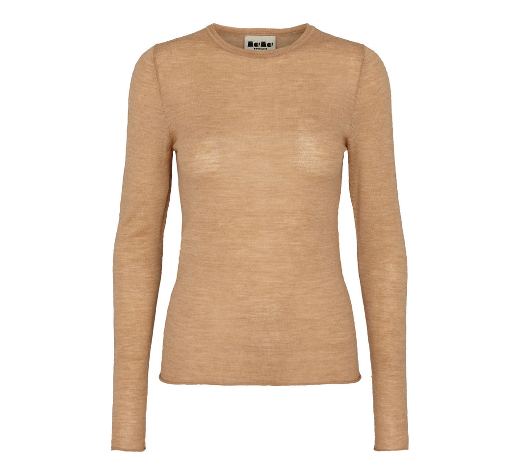 Light merino knitwear - Camel