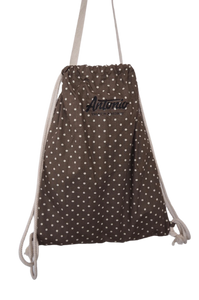 Antonio's bag dots black