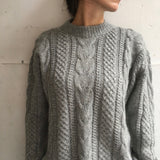 Alpaca sweater grey