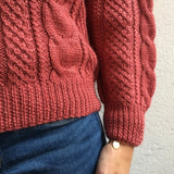 Alpaca sweater raspberry